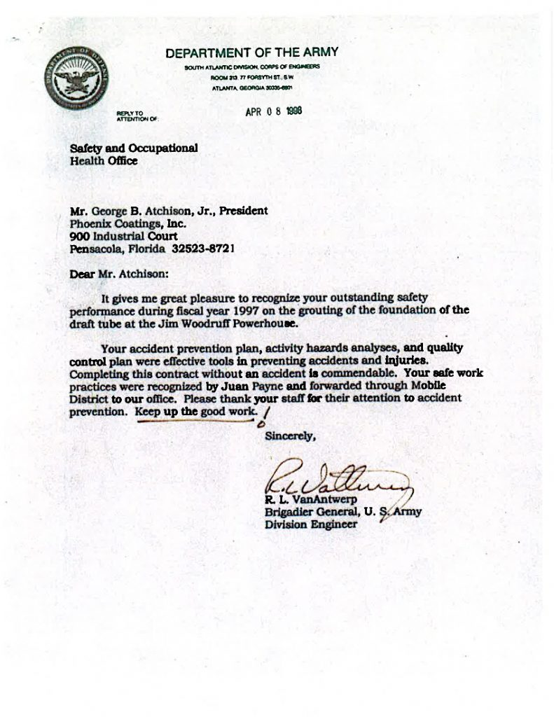 Letter of Commendation - U.S. Department of Defense