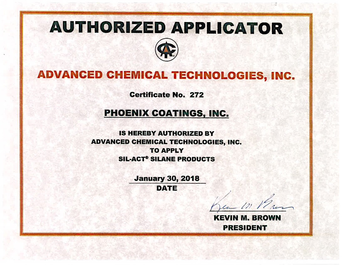 Advanced chemical Technologies SIL-ACT Certification