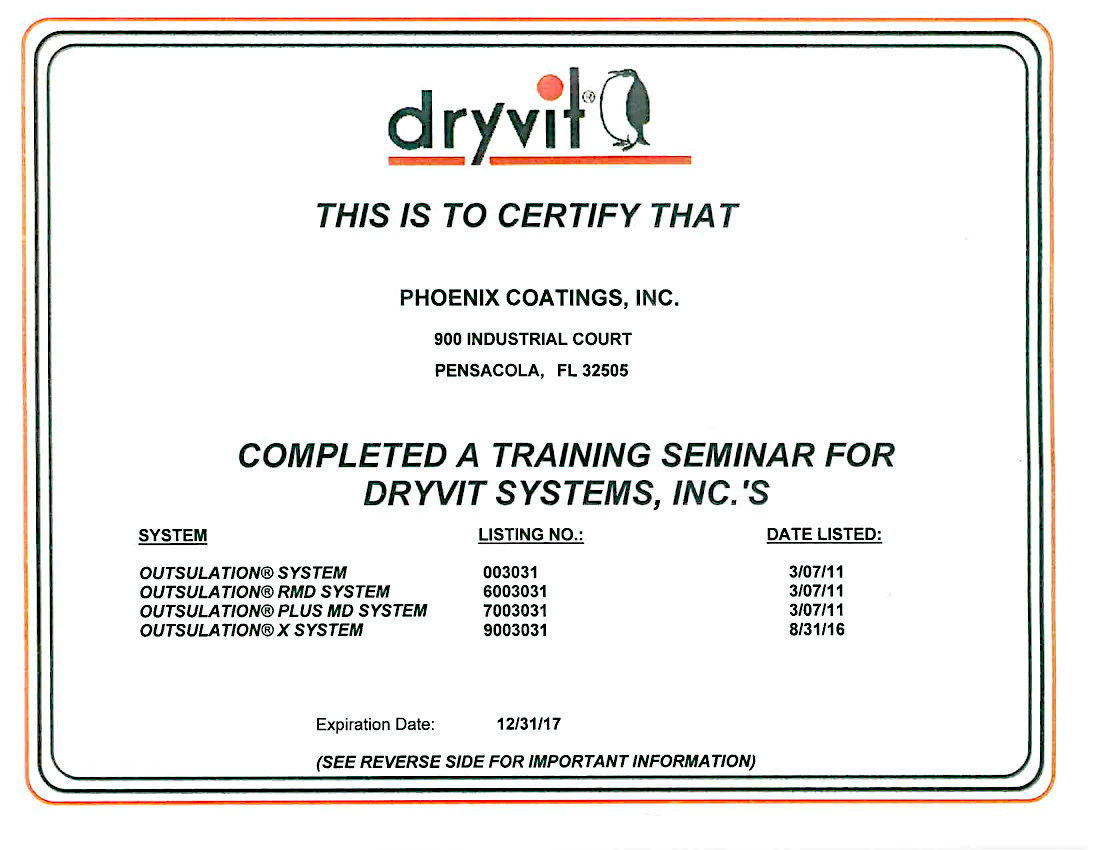 Dryvit Systems Certification