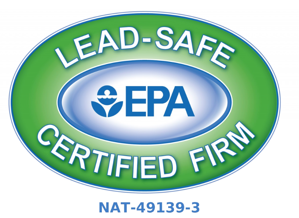 Lead Safe EPA Certified Firm NAT-49139-3
